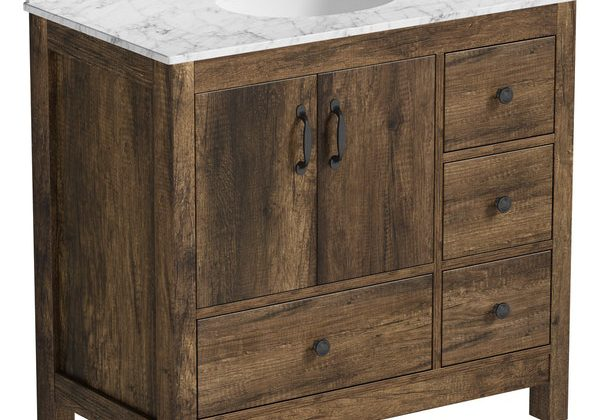 The Bath Co. Dalston vanity unit and white marble basin