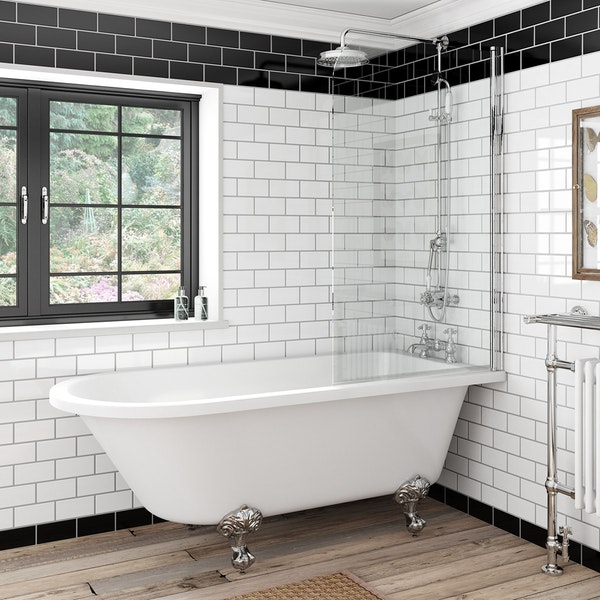 The Bath Co. Dulwich freestanding shower bath and bath screen