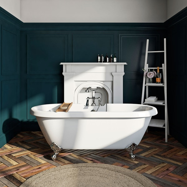 The Bath Co. Dulwich roll top bath with ball feet